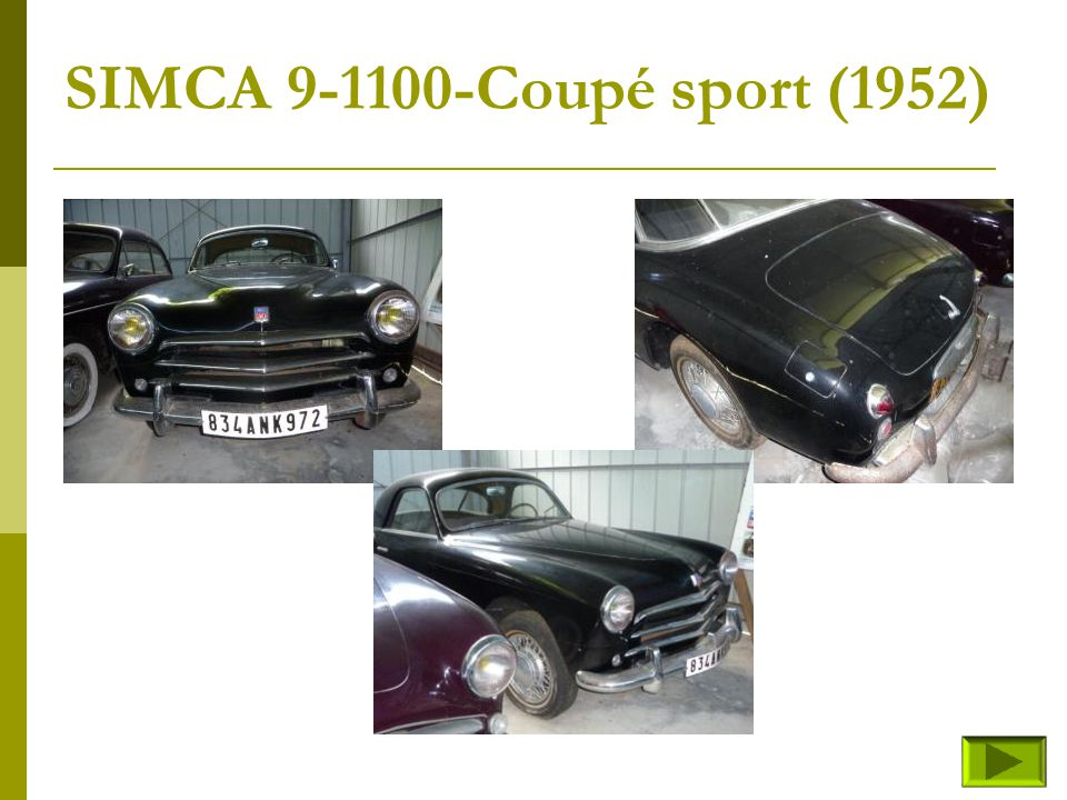 SIMCA 9-1100-Coupé sport (1952)