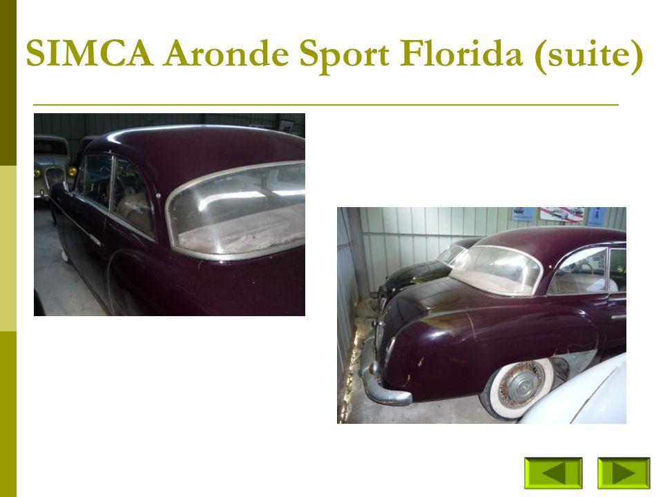 SIMCA Aronde Sport Florida (suite)