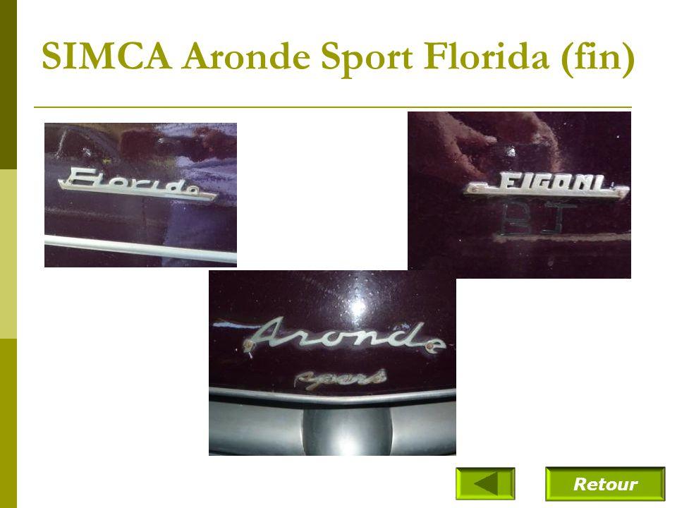 SIMCA Aronde Sport Florida (fin)
