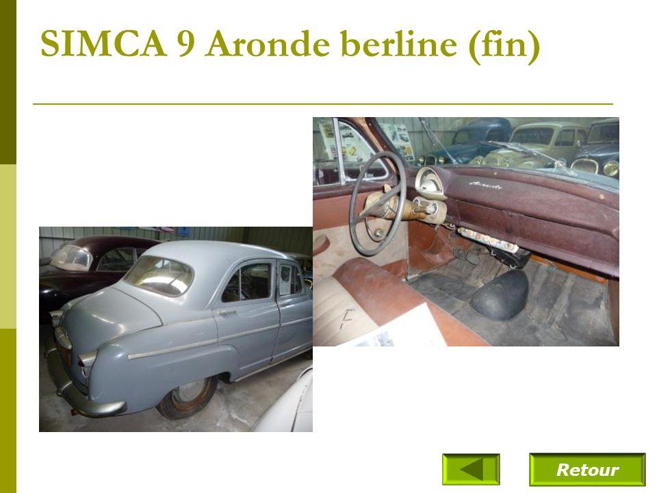 SIMCA 9 Aronde berline (fin)