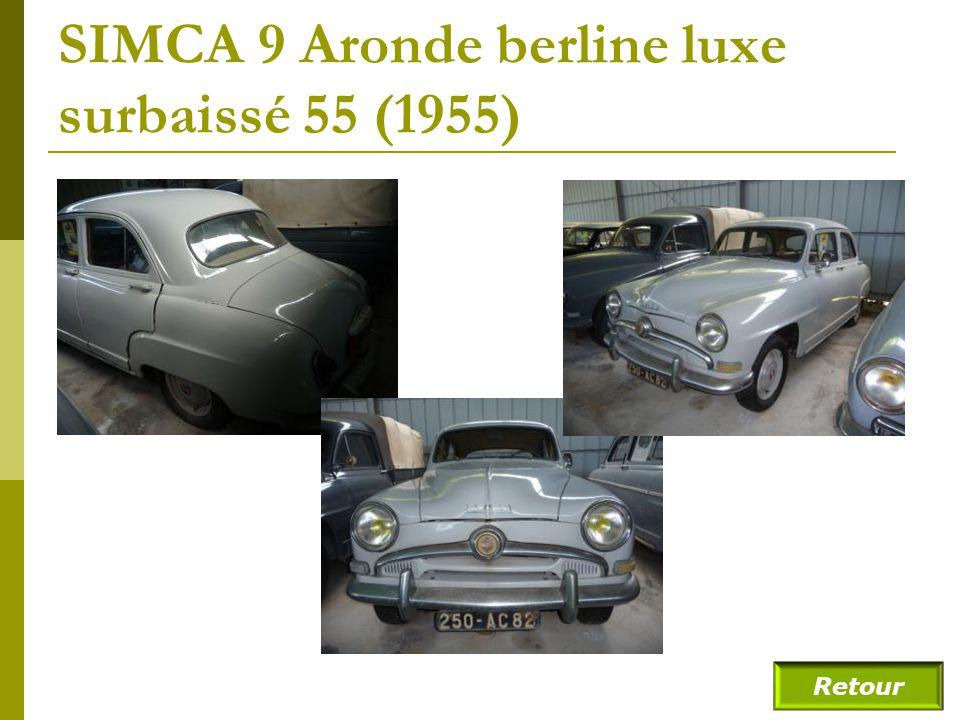 SIMCA 9 Aronde berline luxe surbaissé 55 (1955)