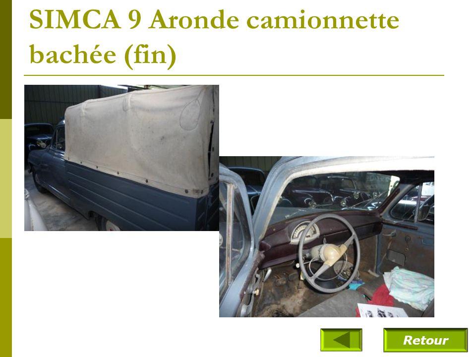 SIMCA 9 Aronde camionnette bachée (fin)