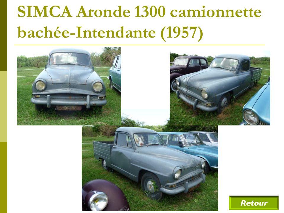 SIMCA Aronde 1300 camionnette bachée-Intendante (1957)