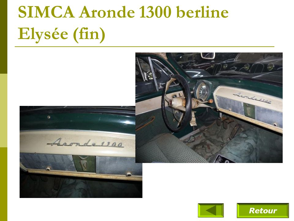 SIMCA Aronde 1300 berline Elysée (fin)