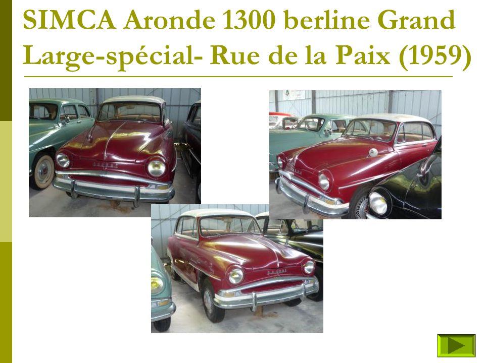 SIMCA Aronde 1300 berline Grand Large-spécial- Rue de la Paix (1959)