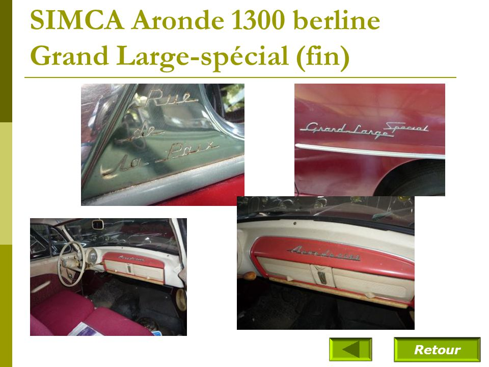 SIMCA Aronde 1300 berline Grand Large-spécial (fin)