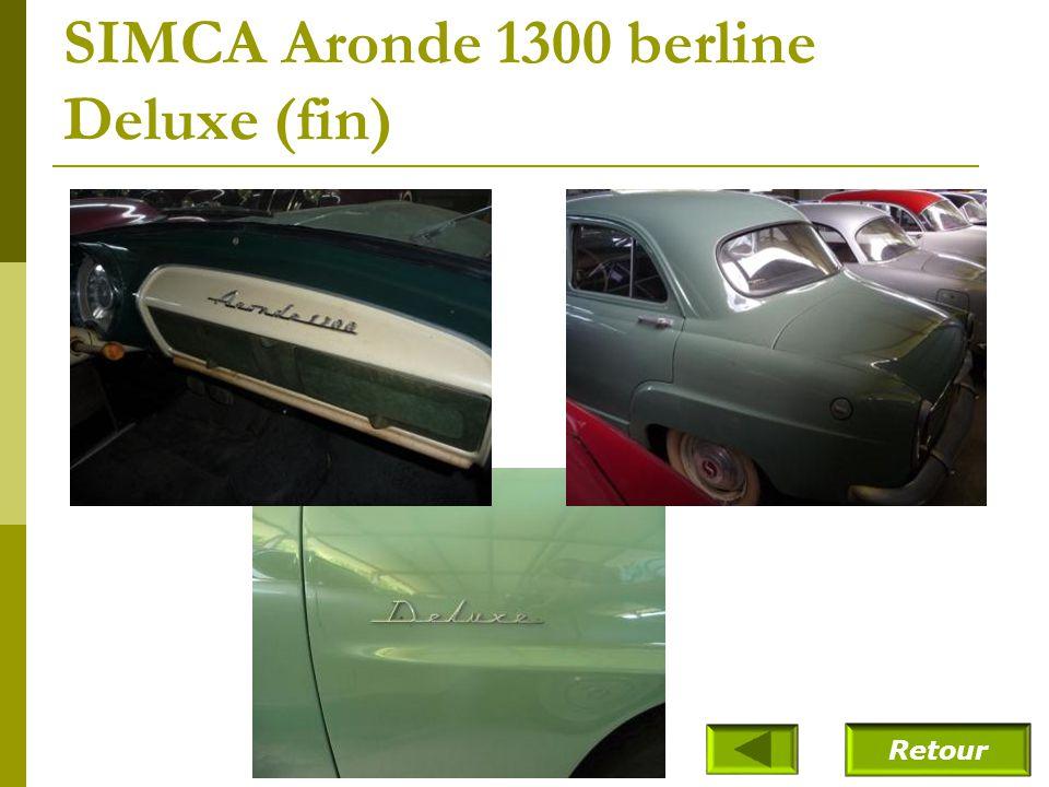 SIMCA Aronde 1300 berline Deluxe (fin)