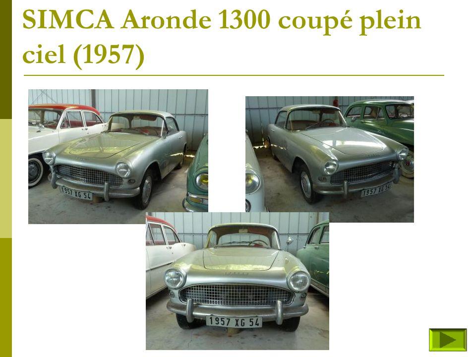 SIMCA Aronde 1300 coupé plein ciel (1957)