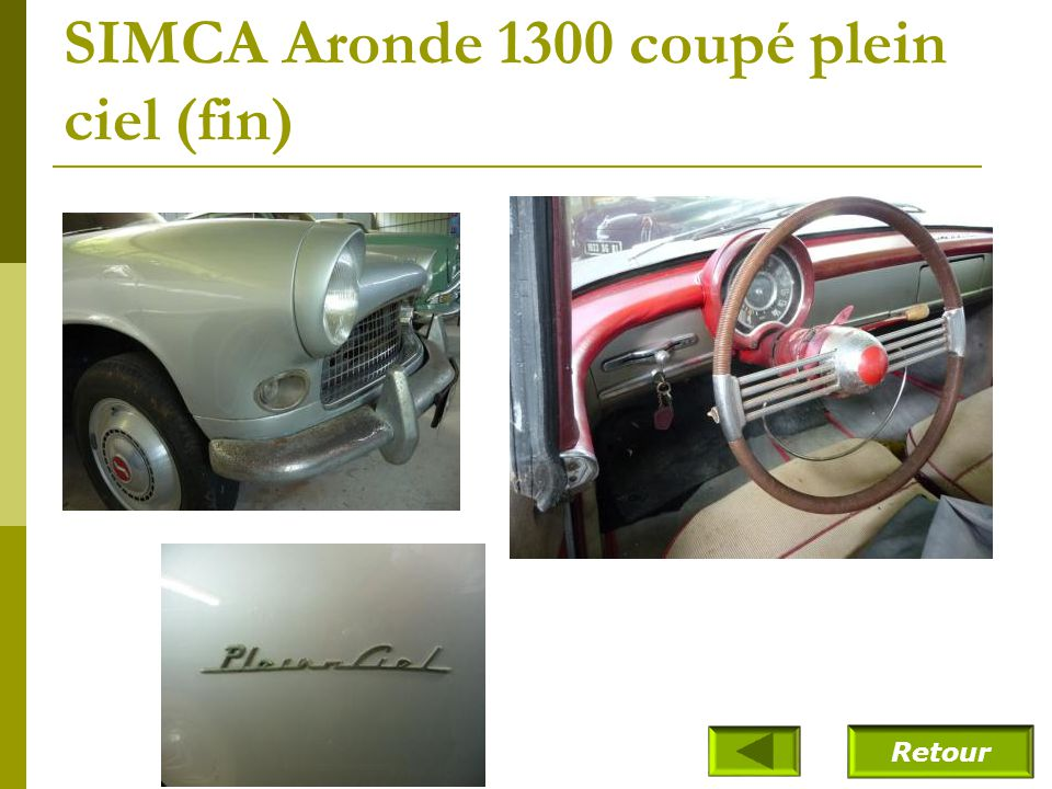 SIMCA Aronde 1300 coupé plein ciel (fin)
