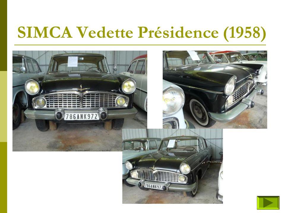 SIMCA Vedette Présidence (1958)