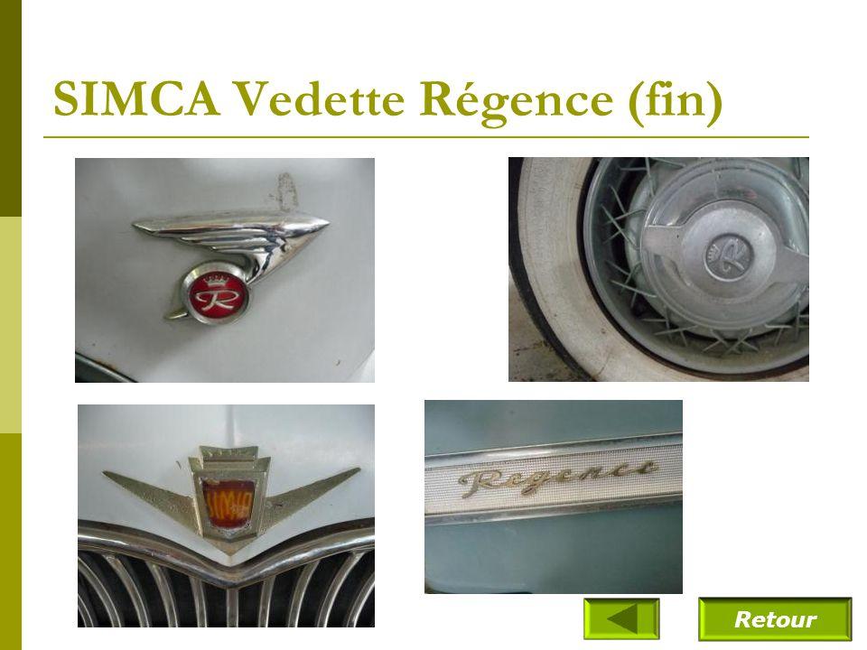 SIMCA Vedette Régence (fin)