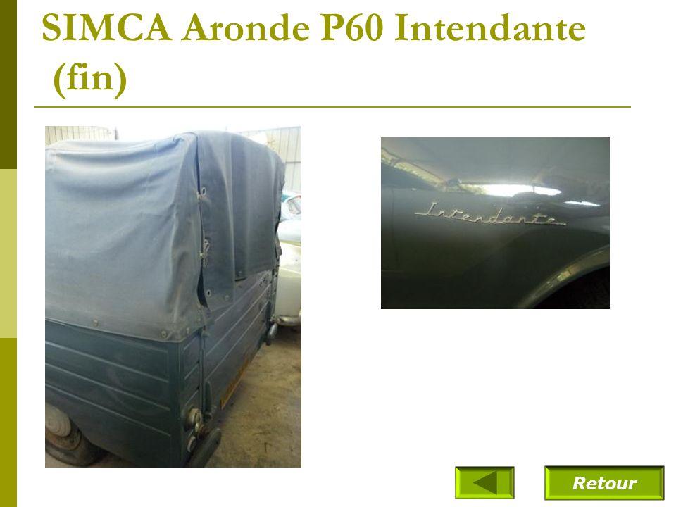 SIMCA Aronde P60 Intendante (fin)
