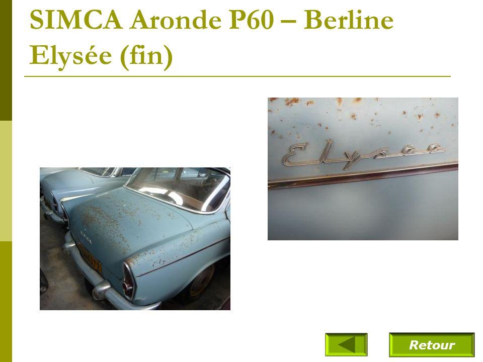 SIMCA Aronde P60 – Berline Elysée (fin)