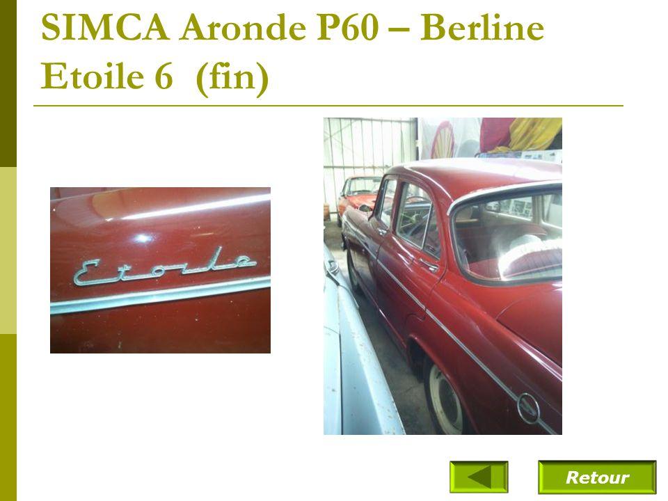 SIMCA Aronde P60 – Berline Etoile 6 (fin)