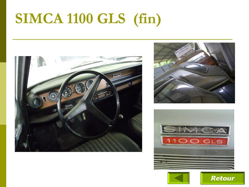 SIMCA 1100 GLS (fin) Retour