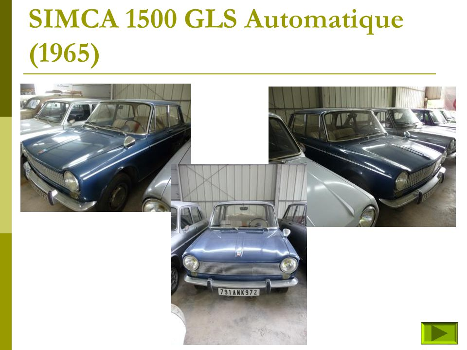 SIMCA 1500 GLS Automatique (1965)