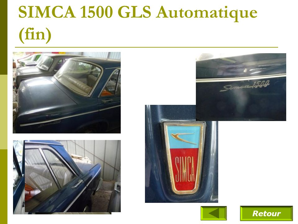 SIMCA 1500 GLS Automatique (fin)
