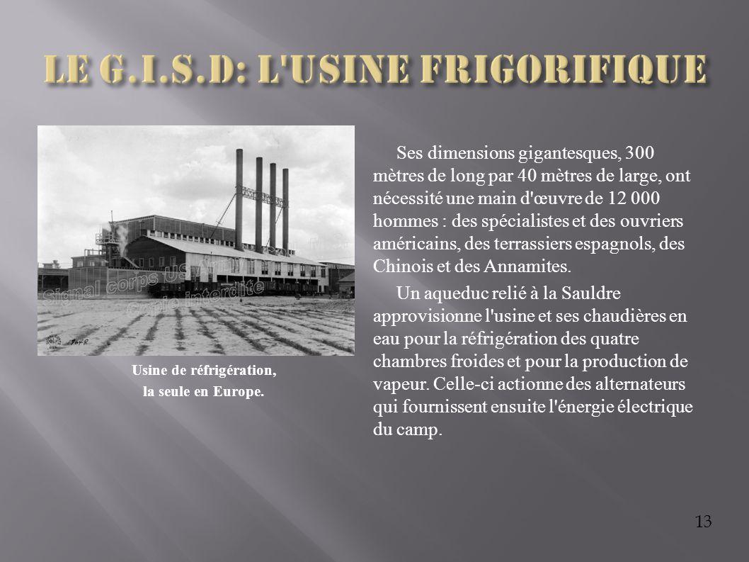 Le G.I.S.D: l usine frigorifique