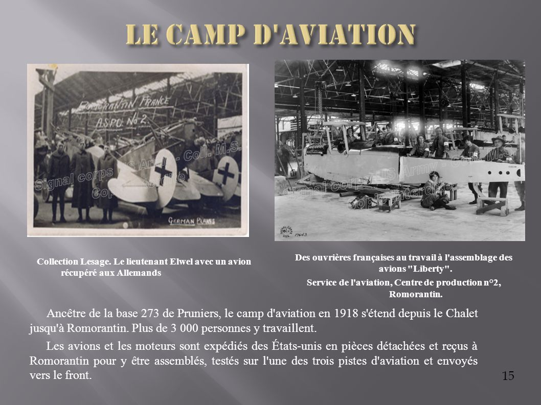 Service de l aviation, Centre de production n°2, Romorantin.