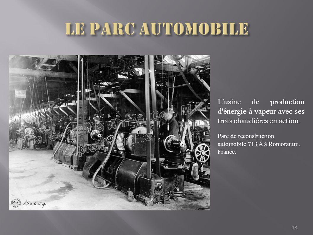 Le parc automobile L usine de production d énergie à vapeur avec ses trois chaudières en action.