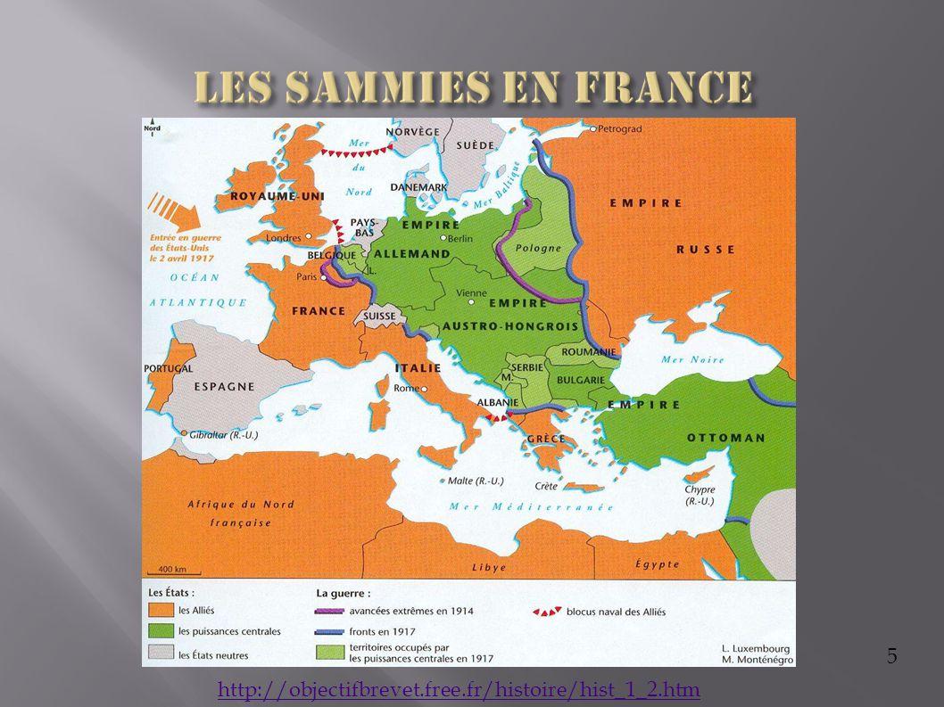 Les Sammies en France 5 http://objectifbrevet.free.fr/histoire/hist_1_2.htm