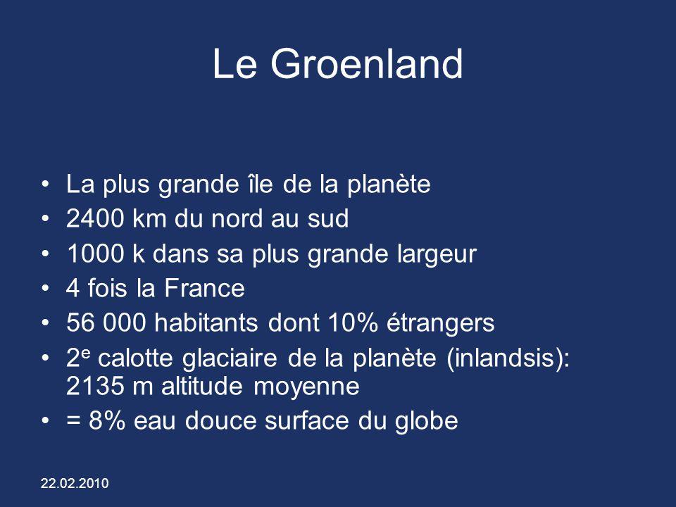 Le Groenland La plus grande île de la planète 2400 km du nord au sud