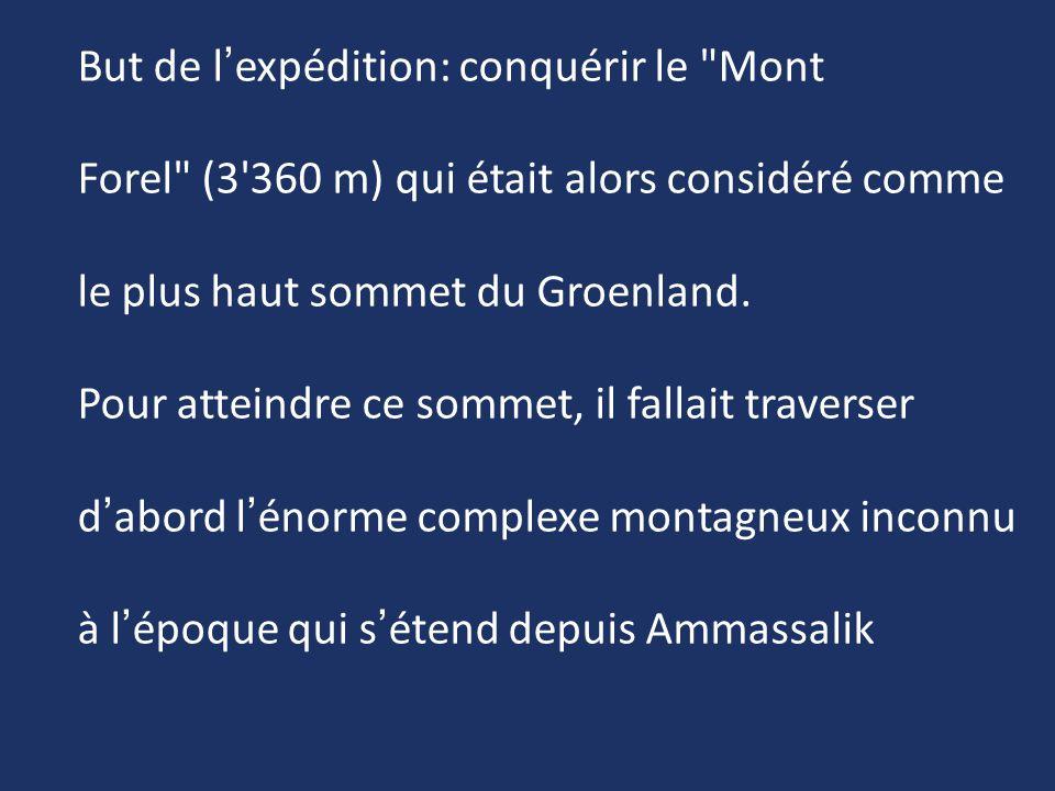 But de l'expédition: conquérir le Mont