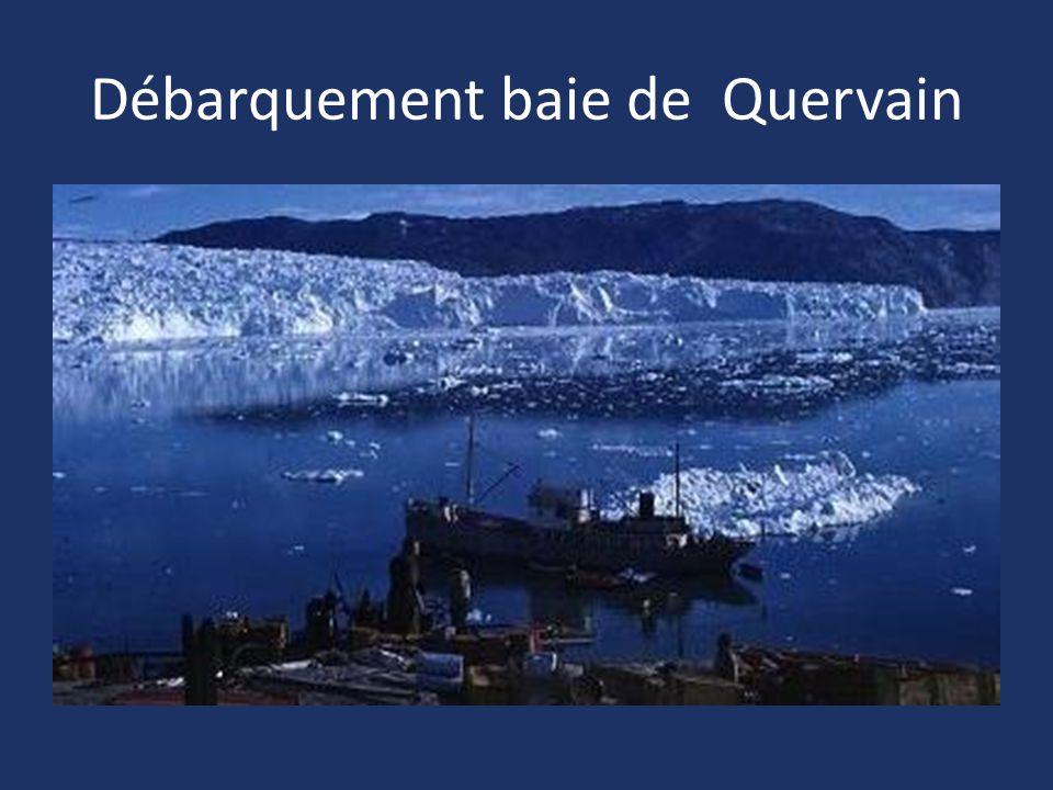Débarquement baie de Quervain