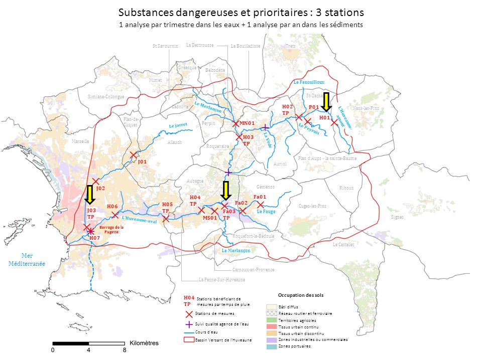 Substances dangereuses et prioritaires : 3 stations