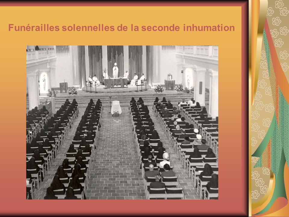 Funérailles solennelles de la seconde inhumation