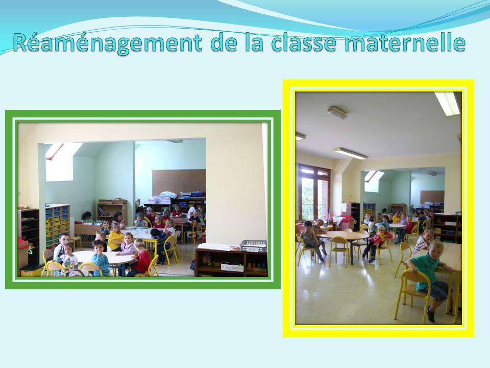 Réaménagement de la classe maternelle
