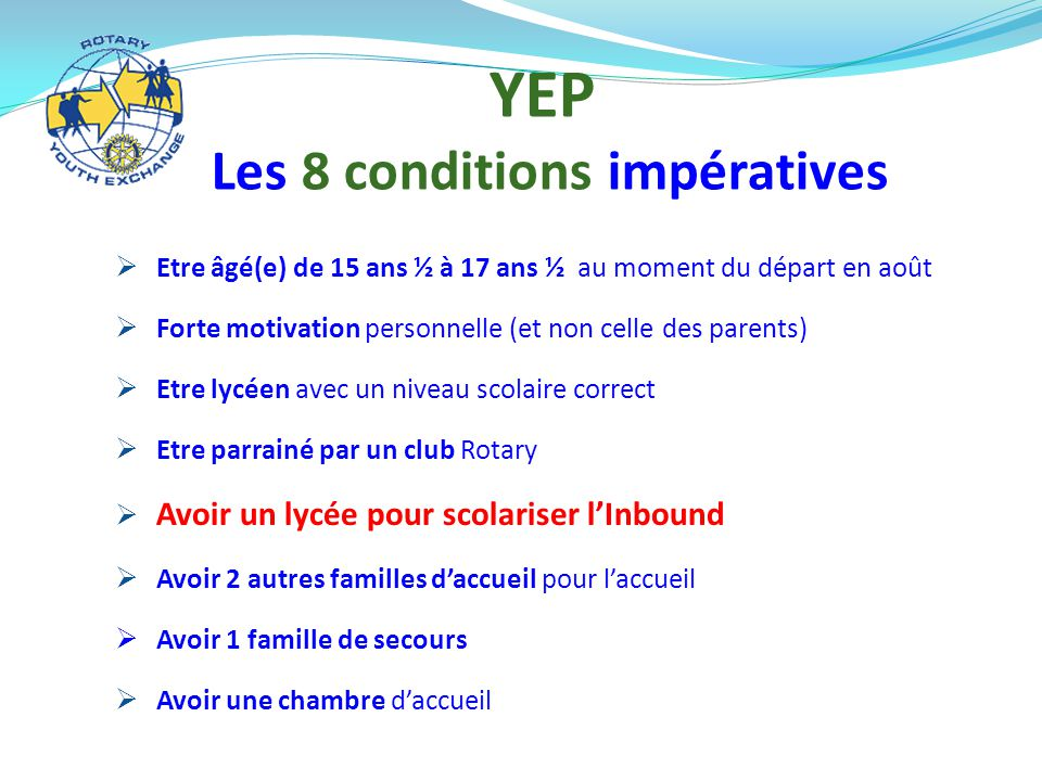 Les 8 conditions impératives
