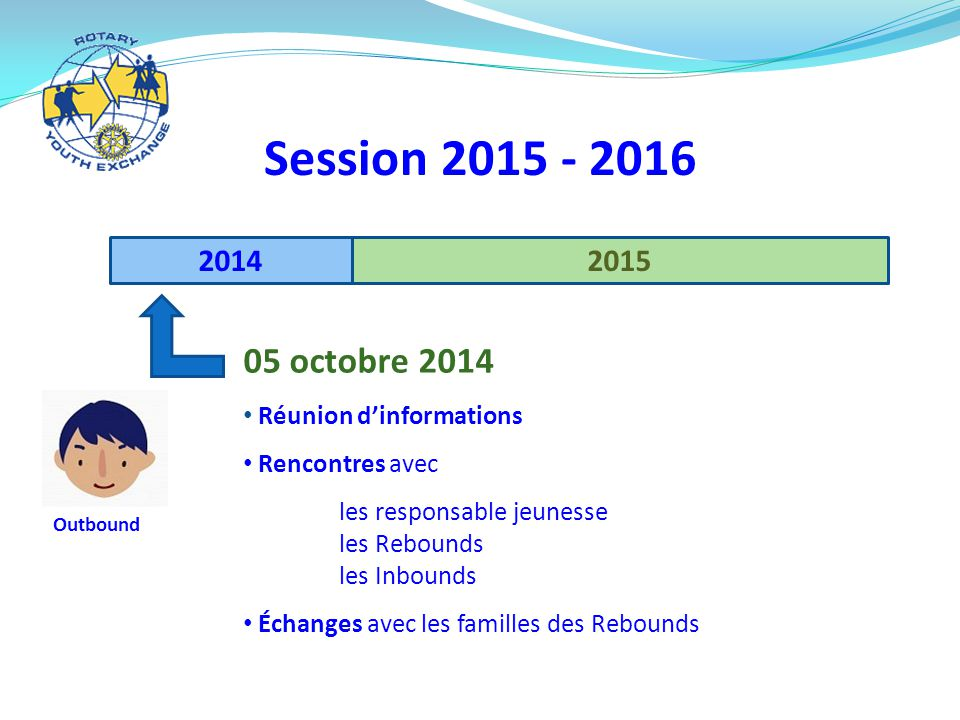 Session 2015 - 2016 05 octobre 2014 2014 2015 Réunion d'informations