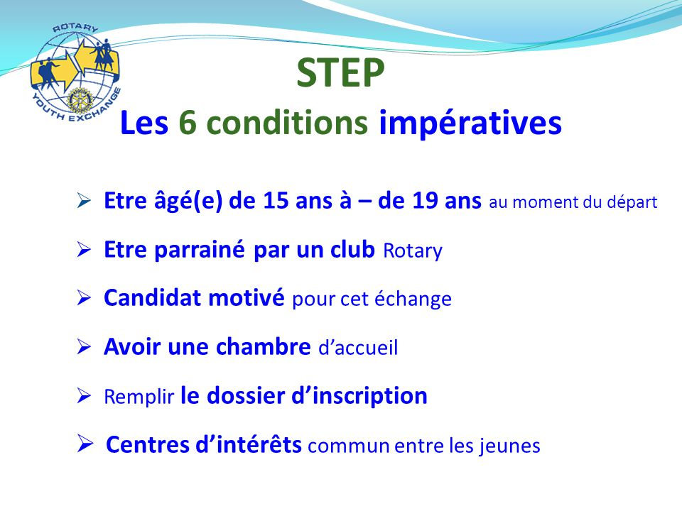 Les 6 conditions impératives