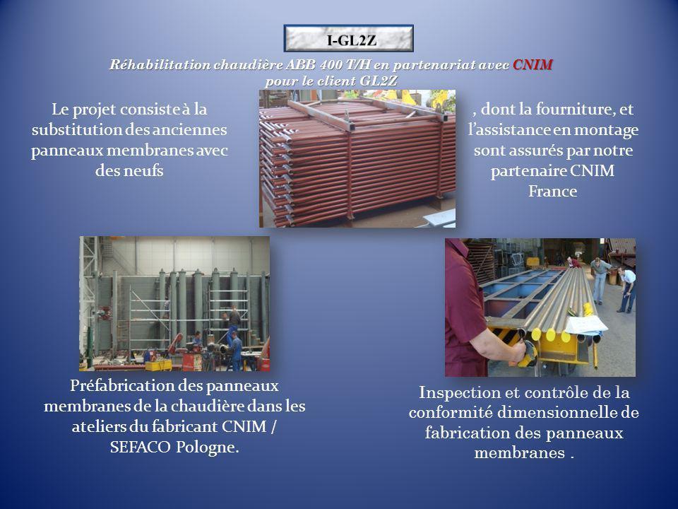 I-GL2Z Réhabilitation chaudière ABB 400 T/H en partenariat avec CNIM pour le client GL2Z.