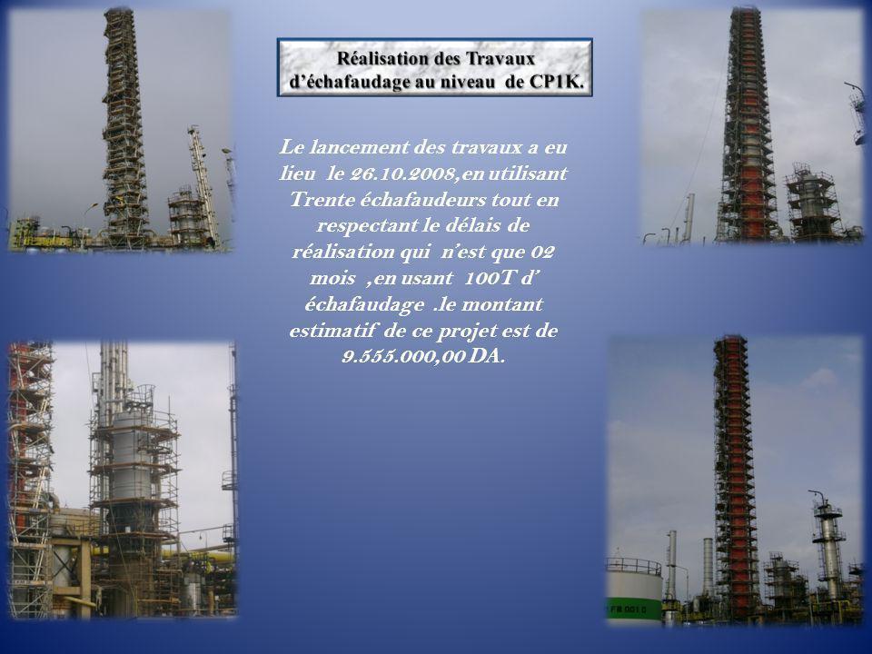 Le lancement des travaux a eu lieu le 26.10.2008,en utilisant