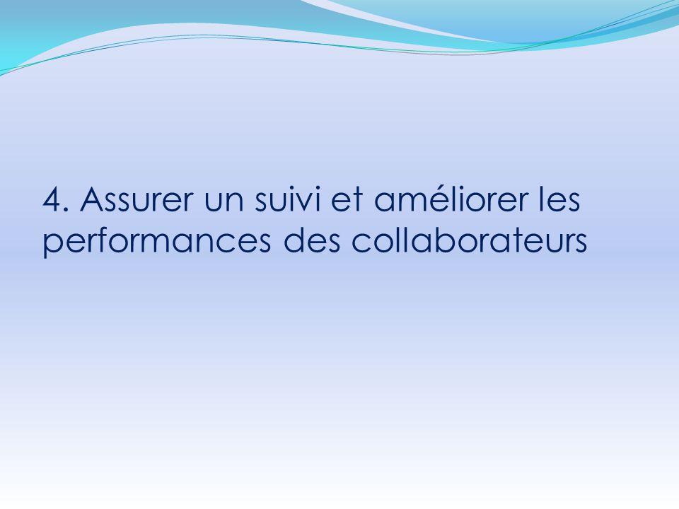 4. Assurer un suivi et améliorer les performances des collaborateurs