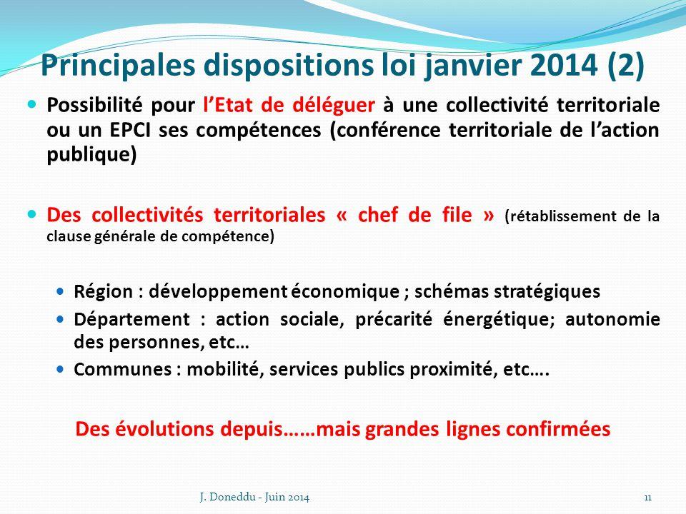 Principales dispositions loi janvier 2014 (2)