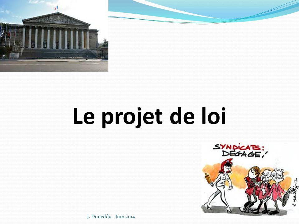 Le projet de loi J. Doneddu - Juin 2014