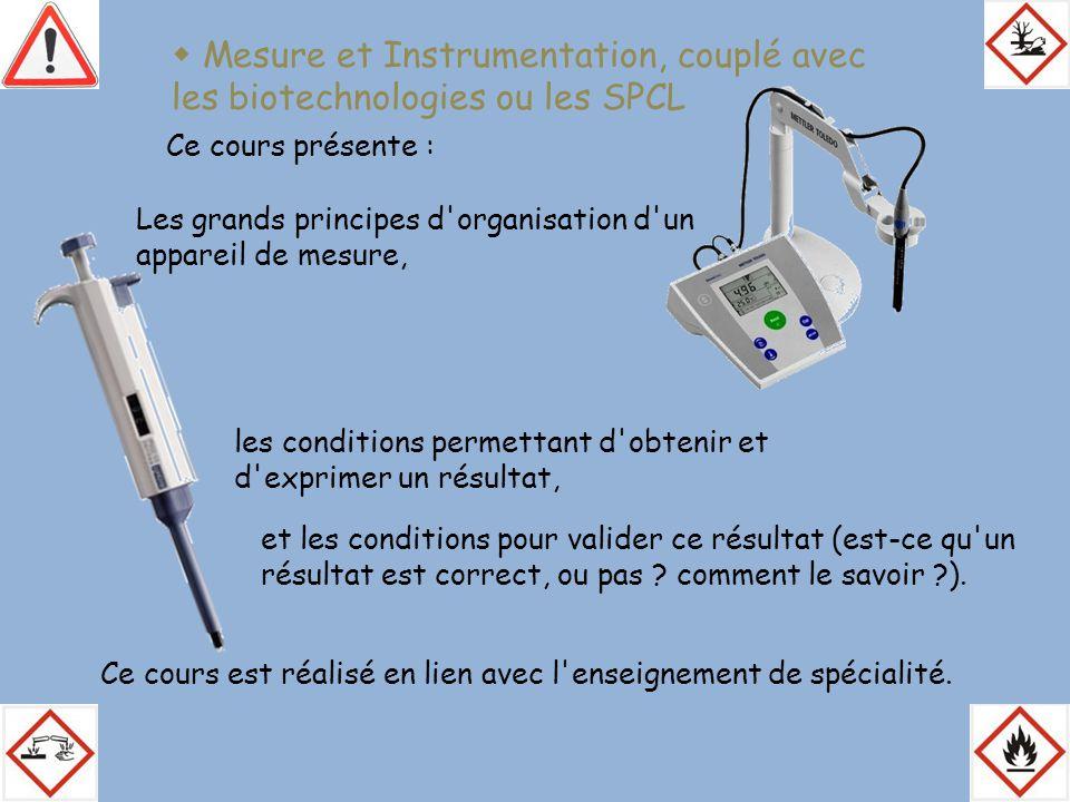  Mesure et Instrumentation, couplé avec les biotechnologies ou les SPCL