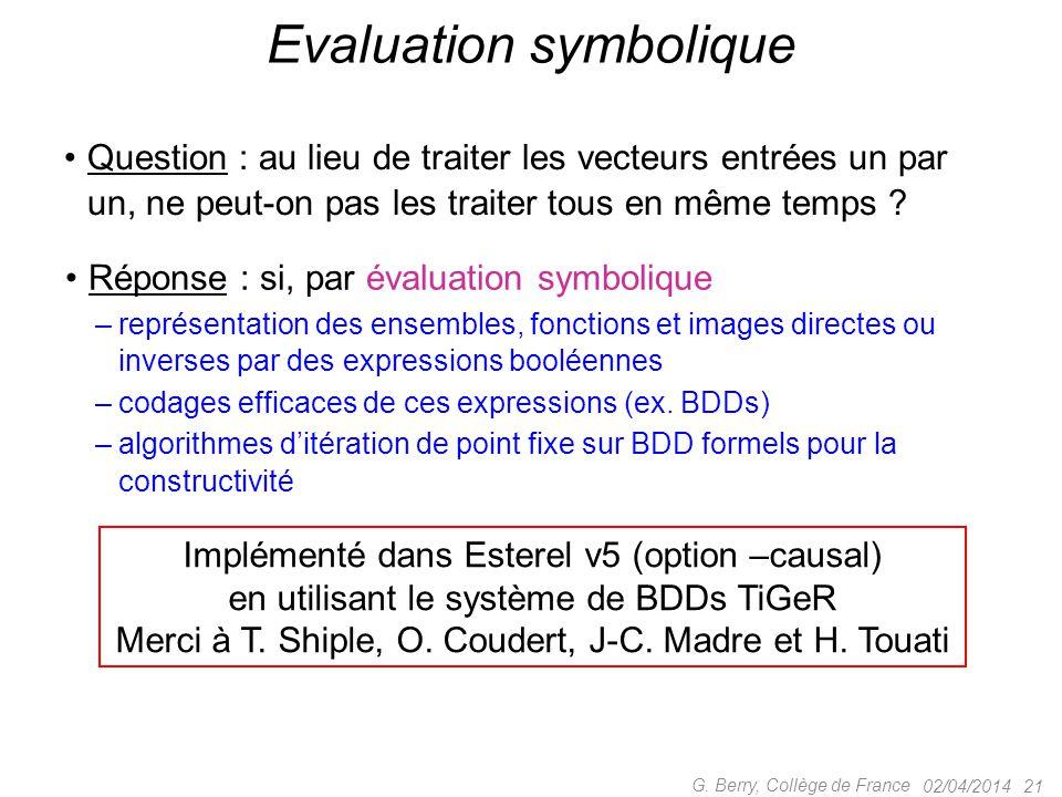 Evaluation symbolique