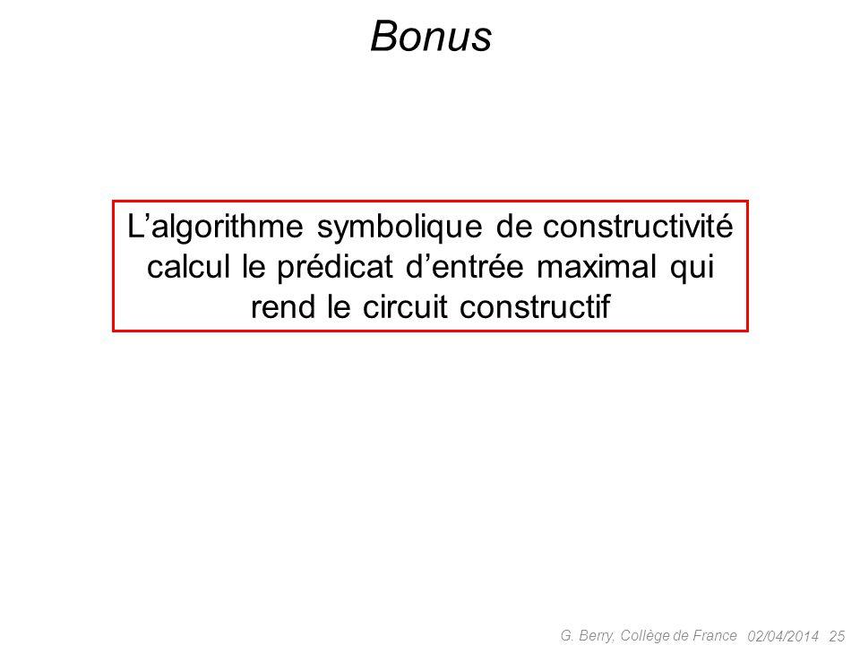 Bonus L'algorithme symbolique de constructivité