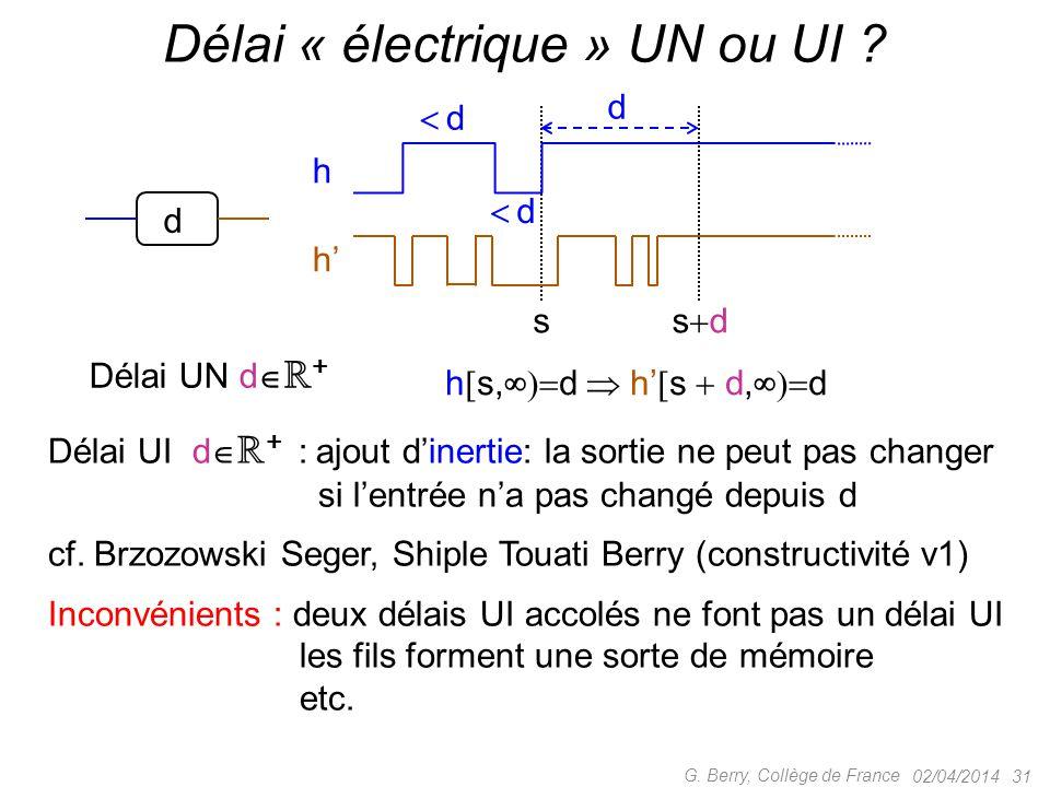 Délai « électrique » UN ou UI