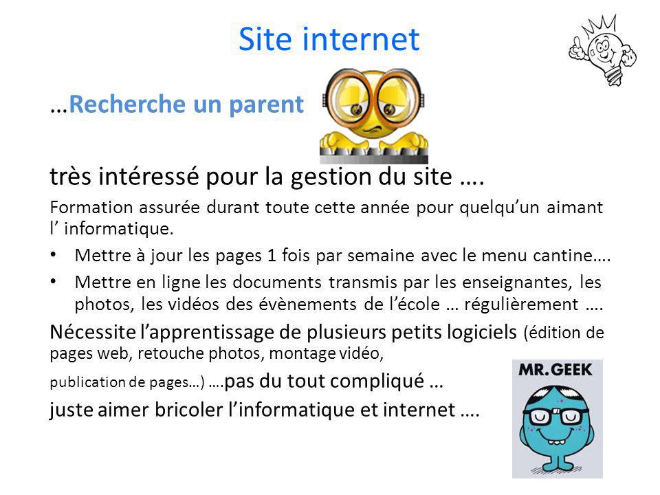 Site internet …Recherche un parent