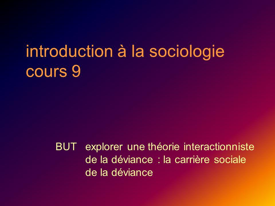 introduction à la sociologie cours 9