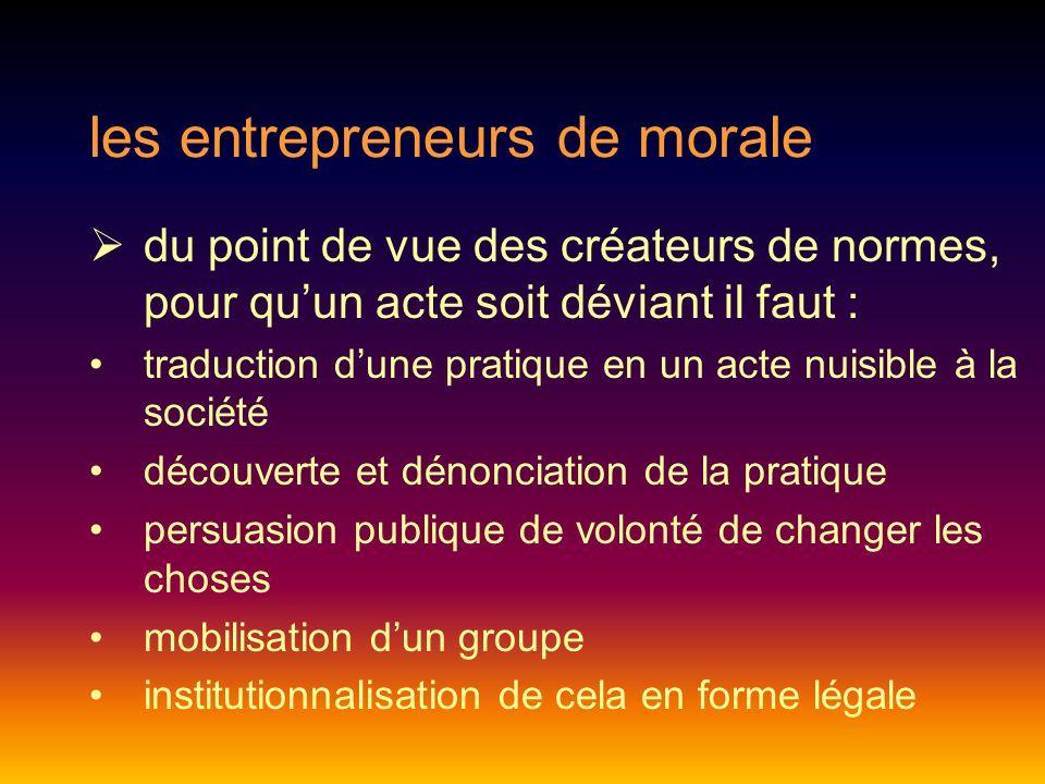 les entrepreneurs de morale