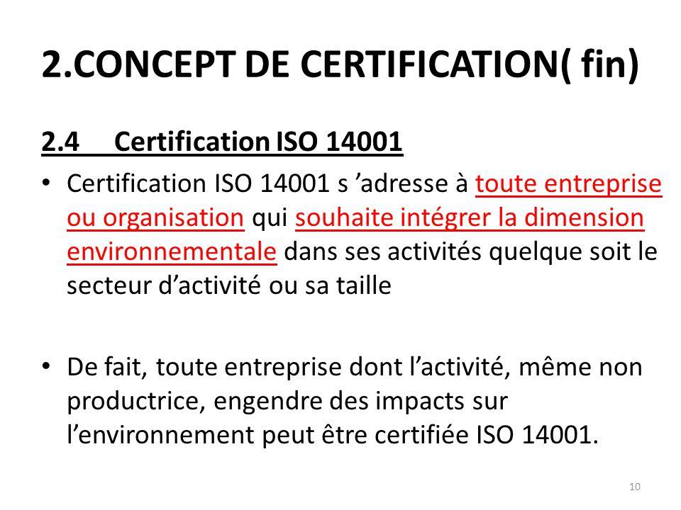 2.CONCEPT DE CERTIFICATION( fin)