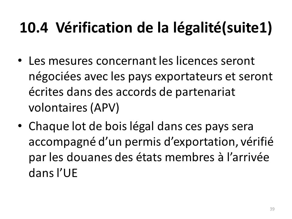 10.4 Vérification de la légalité(suite1)