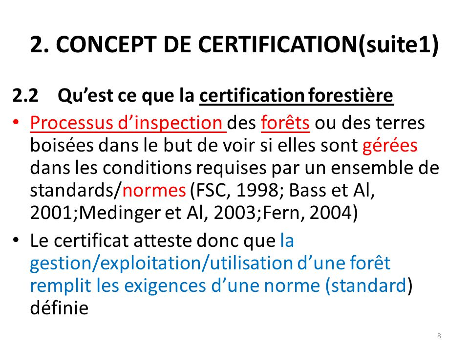 2. CONCEPT DE CERTIFICATION(suite1)