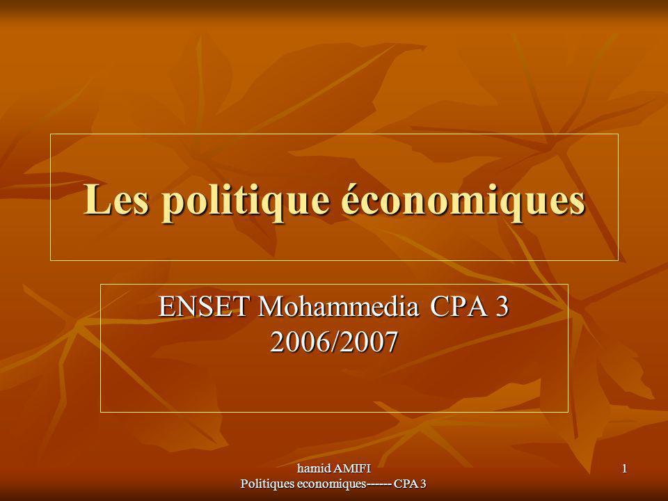 Les politique économiques